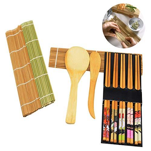 El kit de fabricación de sushi ha sido cuidadosamente seleccionado por nuestros productos de calidad. Es muy fácil de usar, solo siga las instrucciones y podrá hacer un delicioso sushi de una manera económica y divertida. También puedes cocinar rollo...
