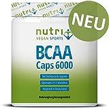 BCAA Kapseln 2:1:1-360 Caps à 750 mg - hochdosiert & vegan - essentielle Aminosäuren - Nutri-Plus BCAAs ohne...
