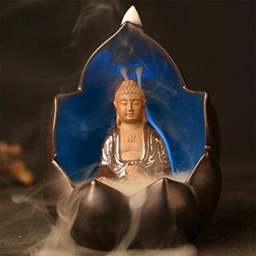 ipuis-encensoir-led-7-couleur-changer-bouddha-brule-encens-lumiere-bodhisattva-glacure-ceramique-bru