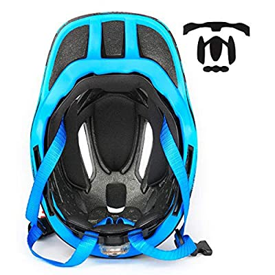boy's and girl's Scooter BMX Bike Helmet Kids Off Road MX Motocross Helmet Scooter Motorcycle Motorbike Helmet Kids Helmets For Bike Skating Scooter With Tail Light by Pro helmet