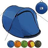 BB Sport Pop-Up Zelt Jump Suite für 2 Personen Wassersäule 3000, Farbe:blau