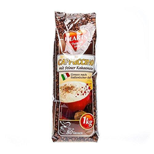 10 x Hearts Cappuccino mit feiner Kakaonote 1 kg