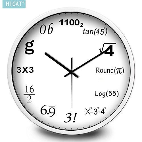 Komo classico ed elegante il quarzo orologio da parete grande silenzioso sweep orologio da parete con moderna camera da letto minimalista mute tabella di quarzo, 12 pollici, vassoio bianco white box