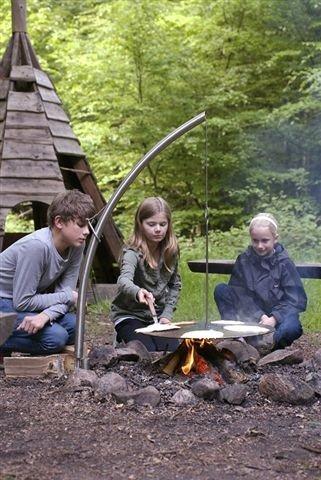 NIELSEN OUTDOOR Camp Fire mit Wikingerpfanne, Ø60cm
