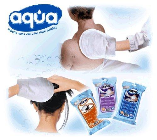 AQUA Manopola per igiene senz'ACQUA - 1 conf.= 12 Guanti