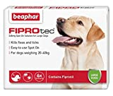 Beaphar® FIPROtec® Kill Flea Ticks Spot On Drop Treatment Protection for Small Medium Large XL Dogs Puppies & Cats (Large Dog 20-30kg, 6 Treatments)