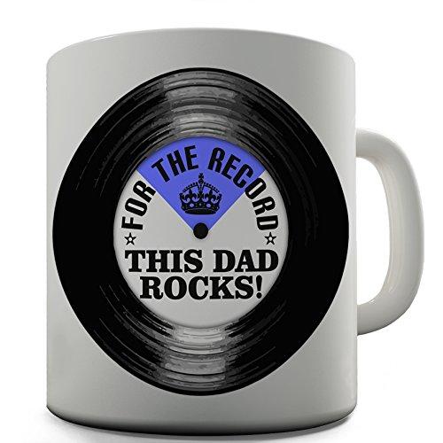 Dad Rocks Tee (Keramik Tee Tasse Dad Rocks von Twisted Envy, keramik, weiß, 15 OZ)