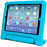 CO.JOY Soporte Antichoque Forro Infantil Funda protectora para Apple iPad 2 / iPad 3 / iPad 4 (Apple iPad 2/3/4, azul)