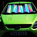 Interior Protection And Cooling Front Window Windscreen Silver Foil Reflective and Foldable Car UV Laser Sun Shade Block Screen - 145 cm x 60 cm