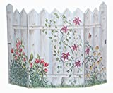 Stupell Home 3 Panel Decorative Fireplace Screen, Picket Fence, 45 by 31 by 0.5-Inch