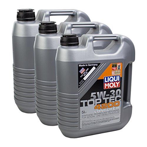 Preisvergleich Produktbild 3x LIQUI MOLY 3707 Top Tec 4200 5W-30 Motoröl
