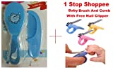 1 Stop Shoppee Baby Hair Brush And Comb With Free Nail Clipper - 2