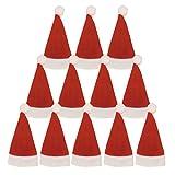 12 PZ Cappello di Natale vestito di tasche porta posate
