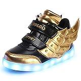 GreatParagon Paragon Unisex Jungen Mädchen LED Leuchtende Schuhe Turnschuhe USB Lade Flashing Schuhe Kinder Sportschuhe Sneakers