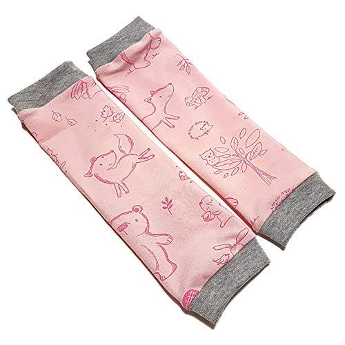 la.nunu Stulpen - Waldfreunde Rosa - Beinstulpen für Babys und Kinder   4 Größen verfügbar   Handarbeit   Kinderstulpen und Babystulpen für Jungen (0-23 Monate)