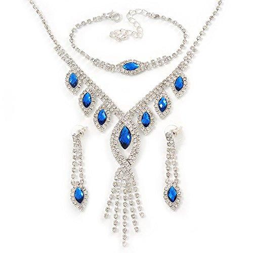 novia-novia-boda-blue-clear-crystal-leaf-v-shape-de-pulsera-collar-y-juego-de-pendientes-de-gota-en-
