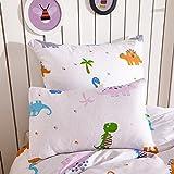 Kinderbettwäsche 135x200 / 100x135 cm Baumwolle, Bettwäsche Dinosaurier Set für Kinder Jungen Mädchen