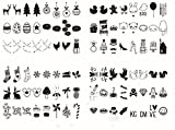 Ai-life 96Pcs Symboles et Emojis Spécial Décoratif DIY Panneaux de Cinéma Pour Boîte Lumineuse, Supplémentaires Caisson Lumineux Panneau Lumineux Décoration, Fête Noël Halloween Décoration
