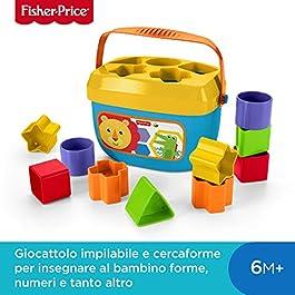 Fisher-Price FFC84 Secchiello con Cercaforme, 10 Blocchi Assortiti, Bambini 6 mesi+