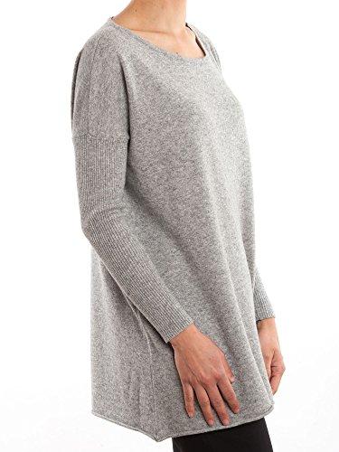 Dalle Piane Cashmere - Maxi Pullover aus Kaschmir-Gemisch - für Damen Grau