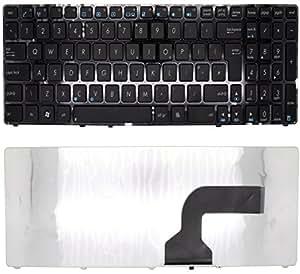 Keyboardfor Noir QWERTY pour ordinateur portable ASUS X55 N53SN-sx273 Vx54s avec cadre Noir