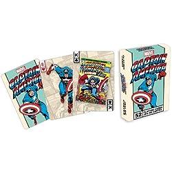 Marvel- Deck de cartas, diseño de Capitán América