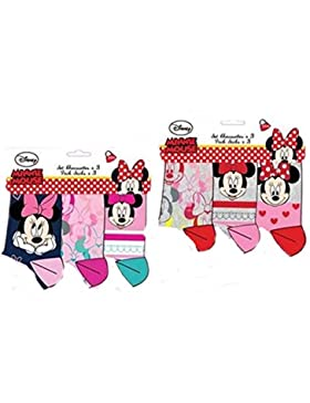 Pack de 6 calcetines multicolor diseño Minnie (Disneyl) num 23/26-27/30/31/34 6 modelos diferentes (alta calidad)