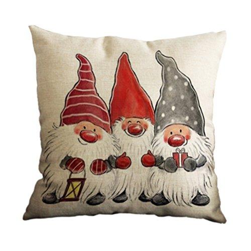 Venkaite federa cuscino cotone misto lino federe per natale cuscini famiglia divano decorativo 18