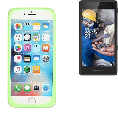 k-s-trade® p. fairphone fairphone 2 bumper respingente de silicone cassa anello di protezione di tpu protettivo in gomma protezione del telaio per smartphone anti-graffio verde