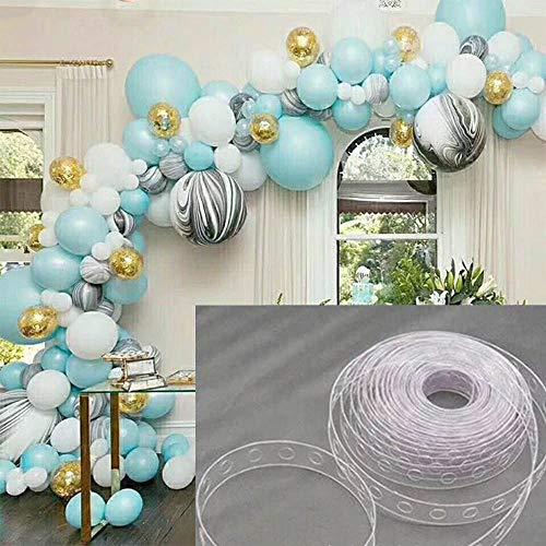 MA87 Ballonstreifen Kette Tape Arch Connect für Hochzeit Geburtstag Party Decor New 5m