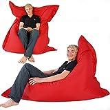 Hi-BagZ 4-Way Bean Bag Lounger HUGE 180cm x 140cm - GIANT Outdoor Floor Cushion Bean Bags RED - 100% Water Resistant Beanbag