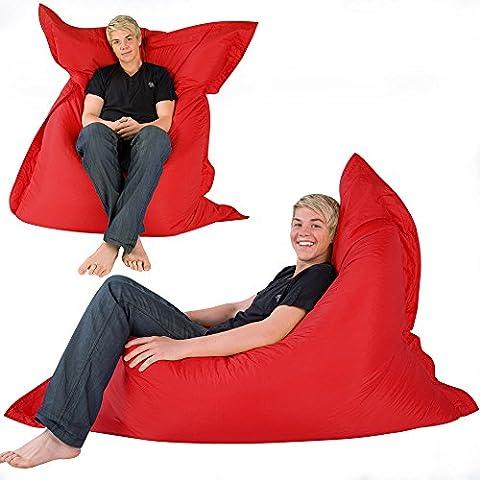 Hi-BagZ 4-Wege Riesensitzsack XXL – der RIESE Outdoor Sitzkissen KNICKENTE - 100% Wasserabweisend Sitzsack (rot)
