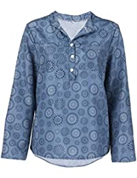 Suchergebnis auf Amazon.de für  blau-weiß gestreifte Bluse - Blusen    Tuniken   Tops, T-Shirts   Blusen  Bekleidung fdc70c14a1