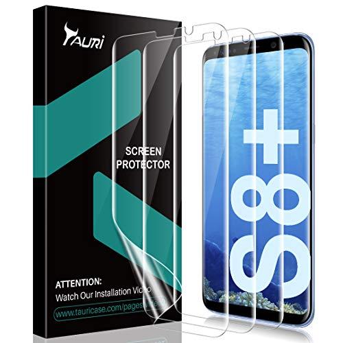TAURI [3 Stück Schutzfolie für Samsung Galaxy S8 Plus, Galaxy S8+ Weich TPU Bildschirmschutzfolie Folie [Blasenfreie] [Klar HD] [Lebenslange Ersatzgarantie]
