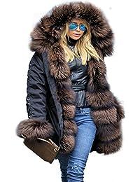 Aofur Femmes Camouflage Manteau à Capuche Hiver Coat Chic Casual Vestes Parka Grande Taille 36-50