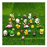 emien 31Teile Mini Tiere Miniatur Ornament Set, Miniatur Ornament Kit für Heimwerker Puppenhaus Dekoration Pflanze Fairy Garden Décor