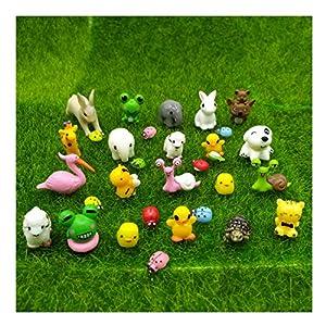 miniaturas: emien 31piezas Mini animales miniatura Adorno Set, Kit de adorno de en miniatur...