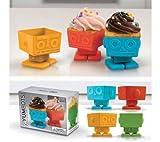 FRED & FRIENDS YumBots - moldes para pasteles robots (set de 4)