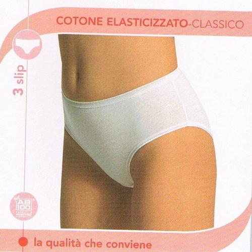 3 Slip donna l'altra Cotonella 3940 6 taglia Bianco