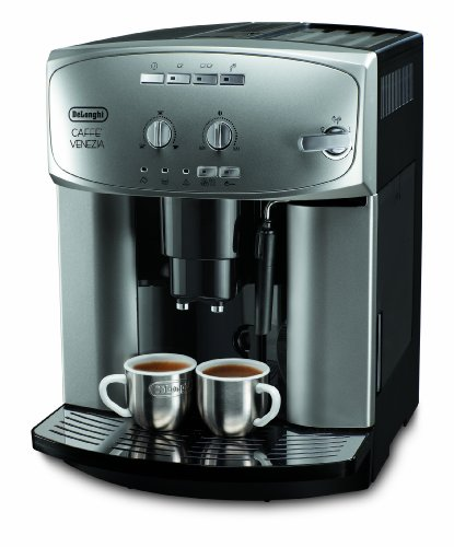 DeLonghi ESAM 2200 Kaffeevollautomat (1450 Watt, Dampfdüse) silber