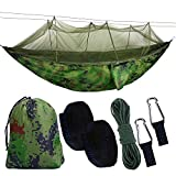 BSTEEN Camping Hammock with Mosquito Net, Portable Hammock Ultralight Parachute Nylon 2 Person