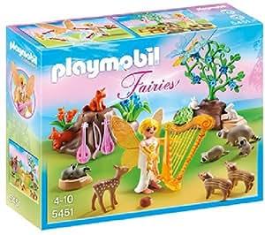 PLAYMOBIL Fairies - Les fées - Féé Melodie avec animaux de la forêt - 5451