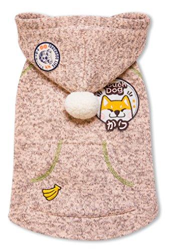 Touchdog hd5pksm Hippie verziert Designer ärmellos Pompon Pet Dog Hooded Pullover Jacket, Small, Pink (Dog Life Jacket Extra Klein)