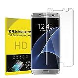Verre Trempé Pour Samsung Galaxy S7 EDGE, Seebing Couverture complète Film Protection en Verre trempé écran Protecteur Vitre- ANTI RAYURES - SANS BULLES D'AIR -Ultra Résistant Dureté 9H