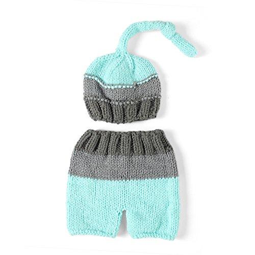 PEPEL Accessoires de photographie nouveau-né fait main Crochet bébé en  tricot capuchon Outfit Photo 20380e9f120