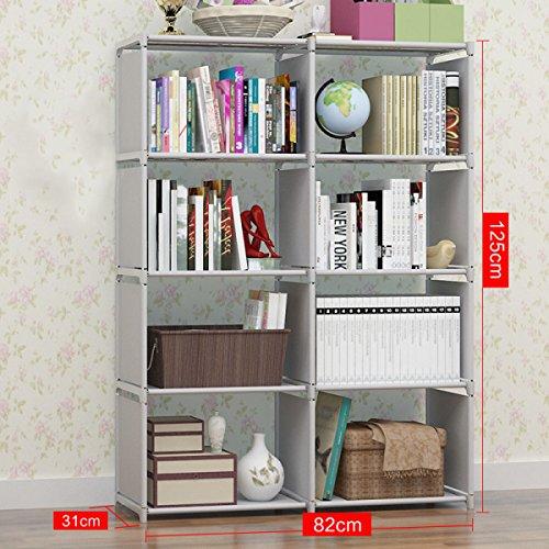 GEXING Double Rangée Amovible De Bibliothèques Pour Améliorer La Collection D'étages Multifonctions Pour Bibliothèque,A-82*31*125cm
