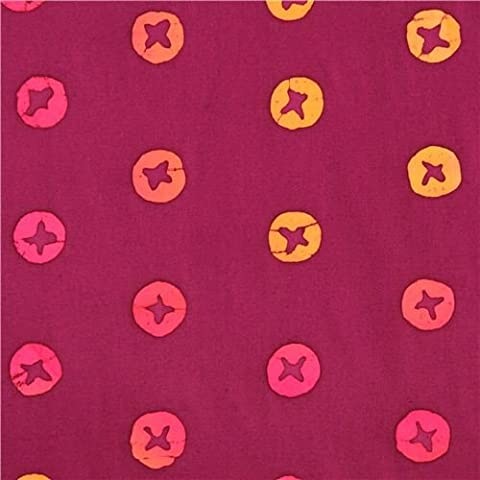 tessuto viola croci cerchi Andover