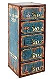 ts-ideen GmbH Comó cassettiera in legno stile Shabby Industriale. 30 x 73 cm