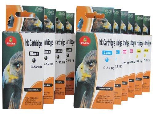 ESMOnline 10 komp. XL Tintenpatronen als Ersatz für Canon Pixma iP 3600 4600 4700 MP 540 550 560 620 630 640 980