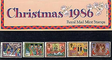 1986 Christmas Presentation Pack PP152 (printed no. 176) - Royal Mail Stamps